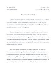 marijuana argumentative essay an argumentative essay on the use of  an argumentative essay on the use of marijuana in medicine