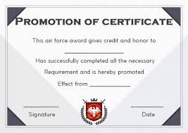 Promotion Certificate Template Promotion Certificate Archives Template Sumo