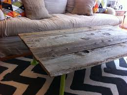 picture of how to build a coffee table from reclaimed wood