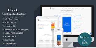 Rook - Simple App Landing Page - HTML Bootstrap Template ...