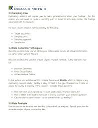 sample research analysis data in answering research sample exploratory research plan template