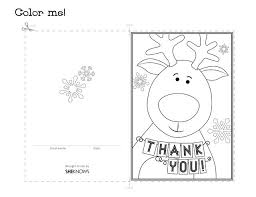 You'll find six different designs included in the free download. Reindeer Holiday Thank You Card Free Printable Coloring Pages Christmas Coloring Cards Christmas Coloring Pages Christmas Coloring Books