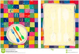Menu Card Design Template Stock Vector Illustration Of Knife 21997466