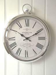 kitchen wall clocks silver wall clock