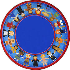 kid essentials early childhood children of many cultures 7 7 round multicolored com