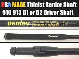 Details About Titleist Senior Usa Made Penley A Driver Shaft 917 913 910 915 Driver 1inch