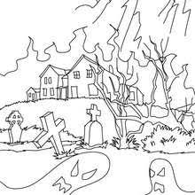 Small Picture HAUNTED HOUSES coloring pages 17 printables to color online for