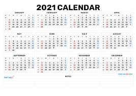 Download printable calendar 2021 with blank notes in editable printable format. Cute Printable Calendar 2021 2021 Free Printable