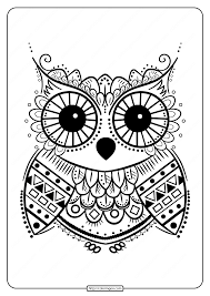 Barn owl coloring page from owls category. Free Printable Coloring Pages