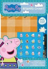 Details About 2x Peppa Pig Childrens Behaviour Wipe Clean Reward Charts Stickers Kids Nursery