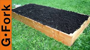 Small Picture Simple Raised Garden Bed Plans GardenFork YouTube
