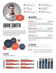 Wondrous Visual Resume Templates Very Attractive Top 5 Infographic