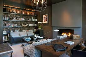 modern home office. Cool Modern Home Offices With Fireplace And Bookcase Modern Home Office
