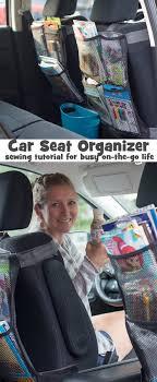 seat back organizer diy sewing tutorial