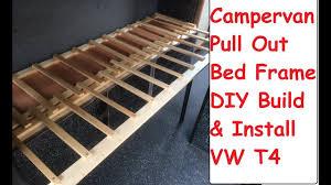 Campervan Pull Out Bed Build & Install Guide VW T4 Camper DIY Sofa Bed Build