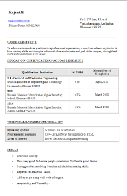 37) Electrical and Electronics Engineering Resume:-