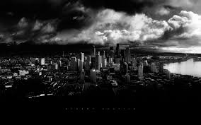 black and white storm wallpaper. Modren Black Black And White Photo Of Downtown Seattle Wallpapers Images  Wallpapers  Pictures Photos Throughout And White Storm Wallpaper H
