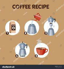 How To Make A Design On Coffee How Make Coffee Drink Instruction Stepbystep Stock Vector