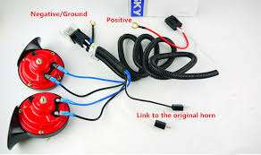 12v horn wire harness relay kit for auto grille mount compact tone 喇叭改装线束6 喇叭改装线束5
