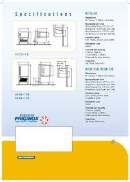 Blast Freezer Design Manual Moffat Friginox Rc30 15a Friginox Rc30 15s Friginox Rc15