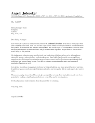 cover letter for librarian template cover letter for librarian