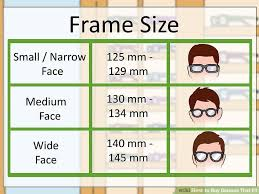 Eyeglass Frame Size Chart How To Buy Glasses That Fit 11 Steps With Pictures Wikihow