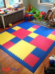 interlocking foam tile playroom floor using two sizes of interlocking foam mats create play mats with