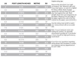 15 Unfolded Vanilla Inline Speed Skates Sizing Chart