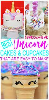 Magical Unicorn Birthday Cakes Easy Unicorn Cupcakes Kids Teens