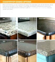 laminate counter edge styles counter top edge