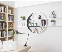 white and black wall mounted round cube