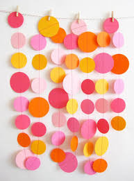 If the previous DIY decoration idea seemed too complicated or time  consuming, then these circle garlands are an easier project. To make these,  cut bits of ...