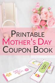 Printable Homemade Coupons Free Printable Blank Mothers Day Coupons Homemade Gifts Made Easy