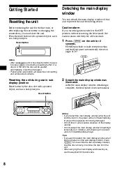 sony cdx m620 reset button fm am compact disc player primary user manual english español français