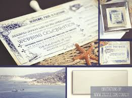 nautical boarding p tickets wedding invitations