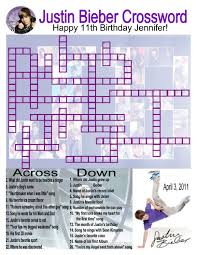 Small Picture Made this Justin Bieber crossword puzzle for my daughters 11th