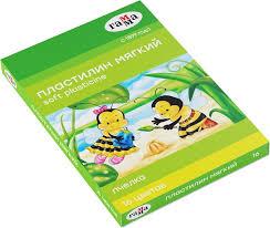 """<b>Пластилин восковой Гамма</b> """"<b>Пчелка</b>"""", со стеком, 16 цветов ..."""
