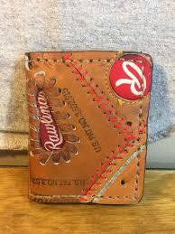 rawlings wallet baseball crafts diy wallet leather purses leather wallet leather projects