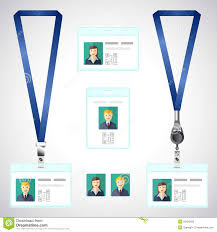 Company Id Badge Template Lanyard Name Tag Holder End Badge Id Template Stock
