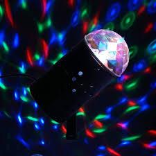 Mini Disco Ball Decorations Rotating LED Crystal Mini Disco Ball Stage Spot Light eFavorMart 97