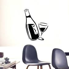 wine wall art bar pub home wine wall art decor drink wine vinyl decal with wine