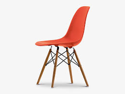 buy the vitra dsw eames plastic side chair golden maple base at
