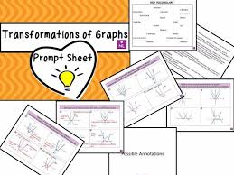 transformation of graphs prompt sheet