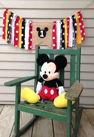 mickey mouse high chair banner birthday banner by backyardprims