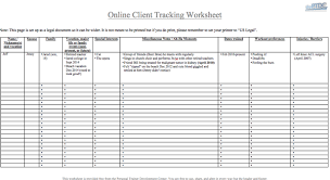 Personal Trainer Client Tracking Spreadsheet Download Theptdc