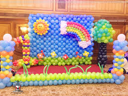balloon decoration for birthday party at home