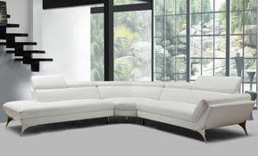 modern white sectional. Divani Casa Graphite Modern White Leather Sectional Sofa