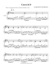 Canon in d is the most famous piece of music by johann pachelbel, written in or around 1680 as a piece of chamber music for three violins and basso continuo. Canon In D Sheet Music By Chas Hathaway