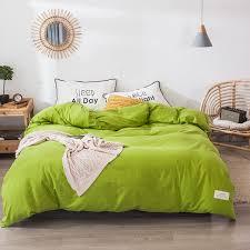 lime green cotton duvet cover flat