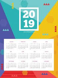 Wall Calendar Design Ideas 2019 Printable 2019 Hd Wall Calendar Wall Calendar Design